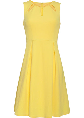 Smashed Lemon Glaze 60's Swing Dress Yellow