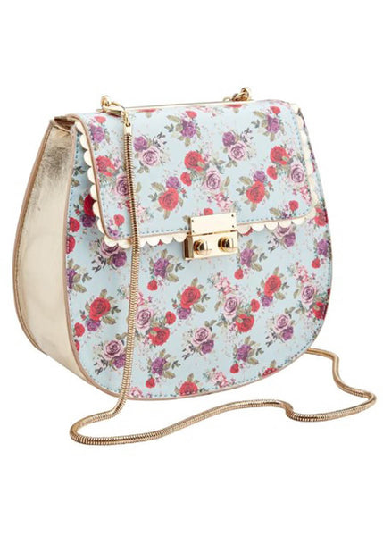 Joe Browns Couture Terrie Floral 50's Bag Blue