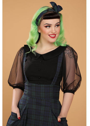 Collectif Alexa Blackwatch Check 50's Swing Skirt Multi