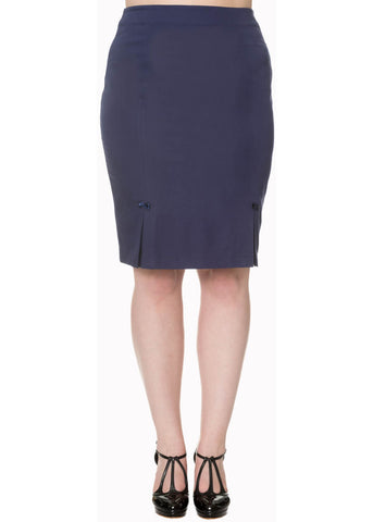 Banned Guiding Light Pencil Skirt Blue