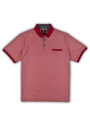Baileys Mens Maze Polo Shirt Red