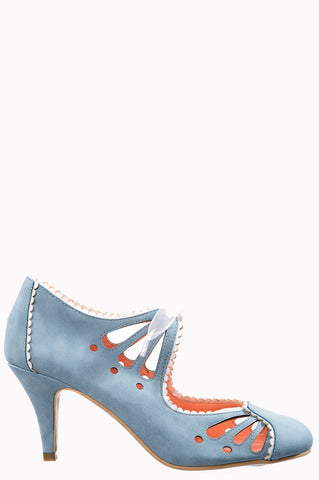 Banned Reno Rhia 40's Pumps Light Blue