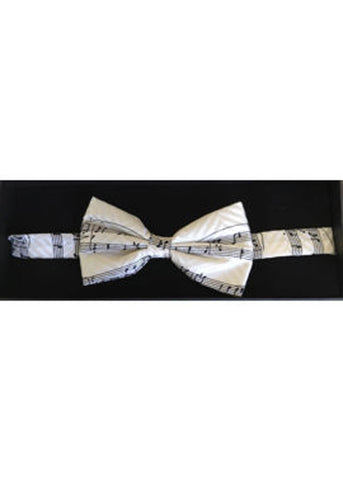 The Tie Studio Manuscript Bow Tie in Box White