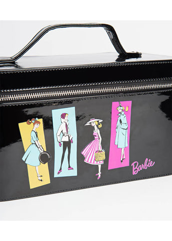Unique Vintage Barbie Train Case 50's Bag Black