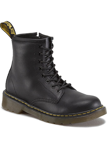 Dr. Martens Kids Delaney Soft LEather Boots Black