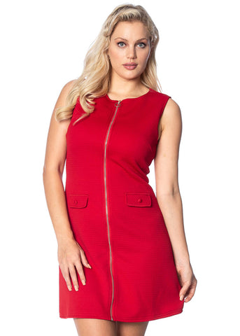 Banned Groovy Gal 60's Dress Red