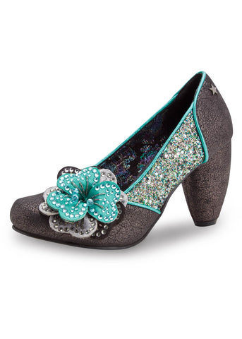 Joe Browns Couture Sassy Glitter Pumps Pewter Color