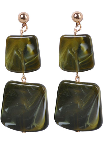 Succubus Donna Mod 60's Earrings Green