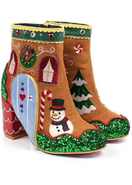Irregular Choice Ginger's House Boots Brown