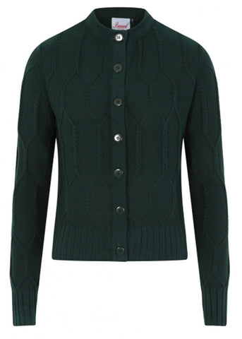 Banned Midnight Daze 40's Cardigan Forest Green