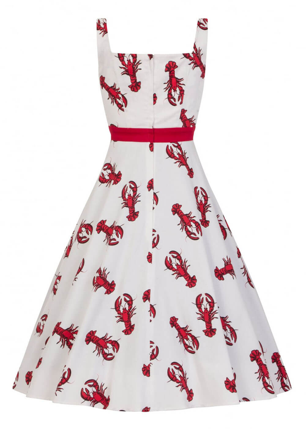 Collectif Sandrine Rock Lobster 50's Swing Dress White