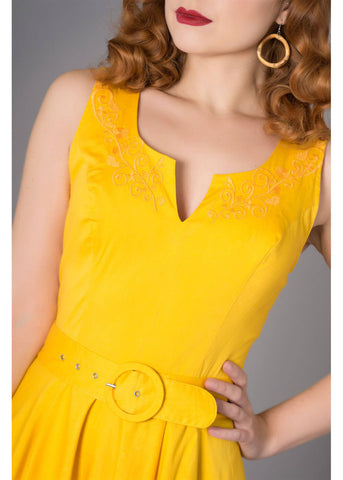Sheen Samantha 50's Swing Dress Yellow
