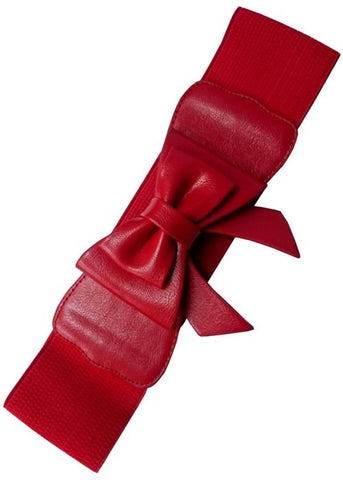 Banned Paris Elastic Belt Red Bow
