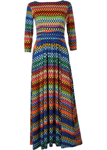 Onjenu Joni Tangier 70's Maxi Dress Multi