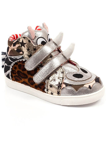 Irregular Choice Kids Rhea Rino Shoes Silver