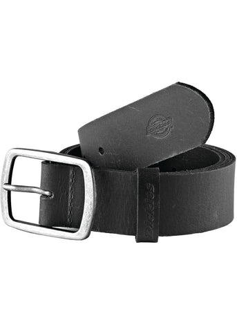 Dickies Mens Eagle Lake Buffalo Leather Belt Black