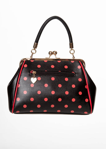 Banned Crazy Little Thing Handbag Black Red