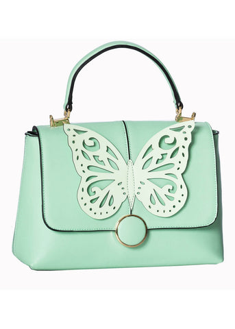 Banned Papilio Butterfly Handbag Mint