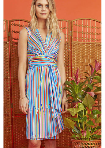 Onjenu Pitot Sunset 60's Dress Blue