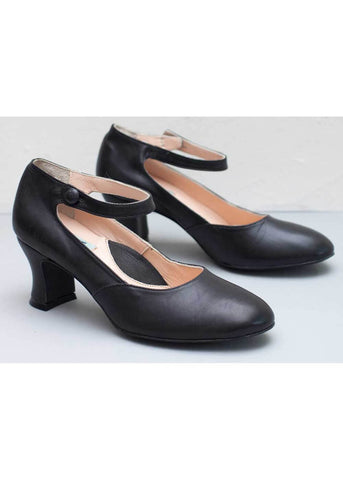 Miss L Fire Lillian Leather 40's Pumps Black