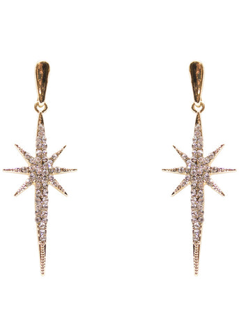 Collectif Estelle Glitz Earrings Gold