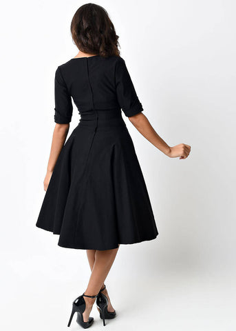 Unique Vintage Delores Dress Black