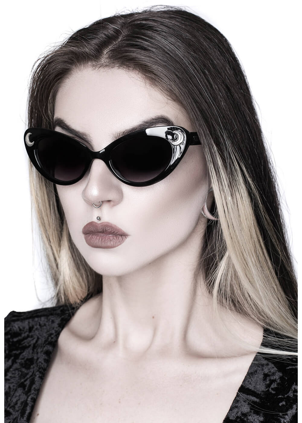 Killstar Cosmic Shade Moon Sunglasses Black