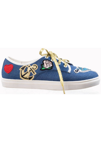 Banned Portland Patch Sneaker Blue