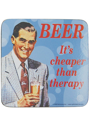 Retro Fun Coaster Beer, It's Cheaper