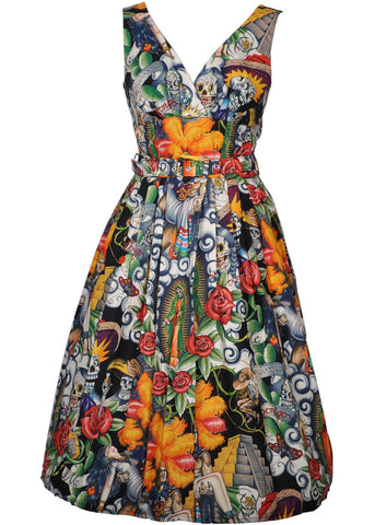 Victory Parade Retro Frock Aztek Contigo 50's Dress