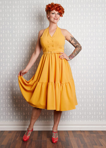 Miss Candyfloss Miriam 50's Swing Dress Yellow