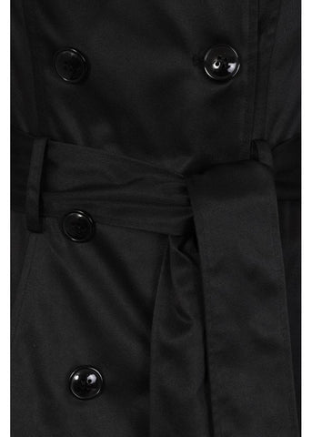 Collectif Korrina 50's Swing Trenchcoat Black