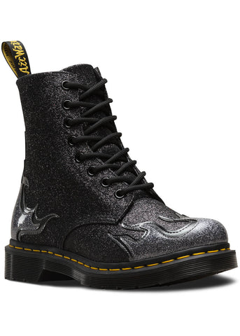 Dr. Martens 1460 Pascal Flame Boots Pewter