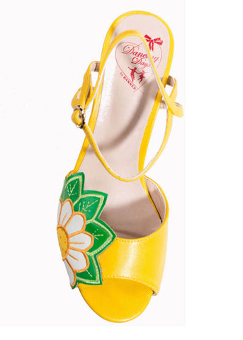 Banned Crazy Daizy 50's Pumps Yellow