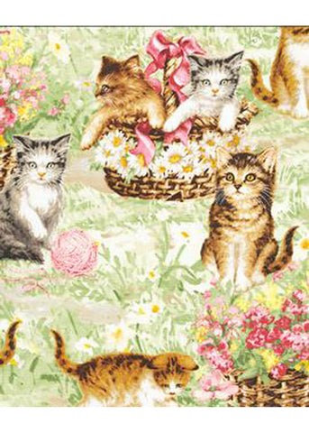 Victory Parade Rosa Playing Kittens 50's Swing Dress