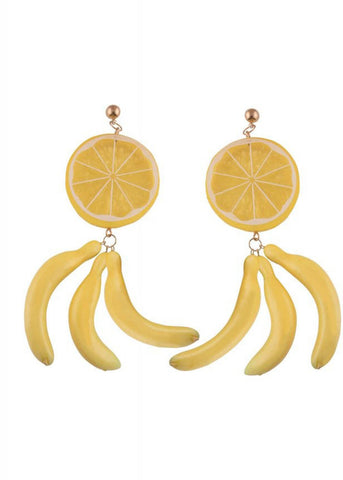 Collectif Liselle Earrings Yellow