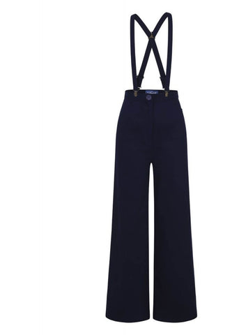 Collectif Glinda 40's Trousers Navy