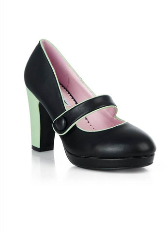 Lulu Hun Janet 60's Pump Black Mint