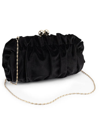 Joe Browns Couture Jester Velvet 40's Bag Black
