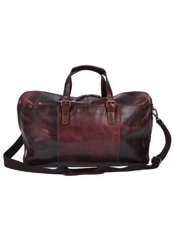 Ashwood Oliver Leather Travelbag Brown
