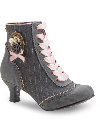 Joe Browns Couture Ambrose Pinstripe 20's Boots Grey