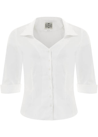 Collectif Mona 50's Shirt White