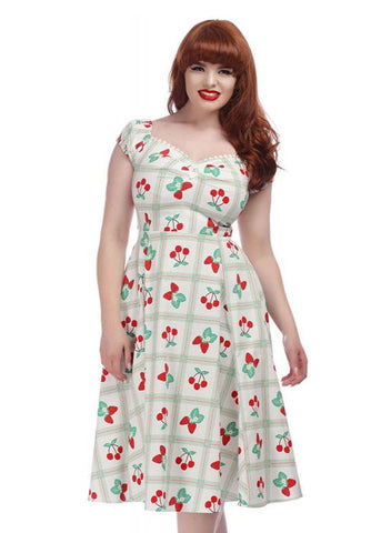 Collectif Dolores Sweetheart Picnic 50's Swing Dress Multi