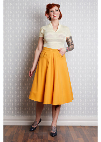 Miss Candyfloss Heloise 50's Swing Skirt Yellow