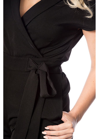 Banned Occasion 60's Jumpsuit Black
