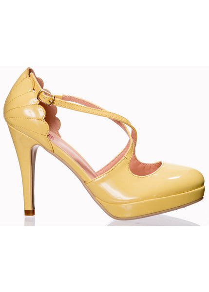 Banned Riverside Rae 50's Pumps Yellow