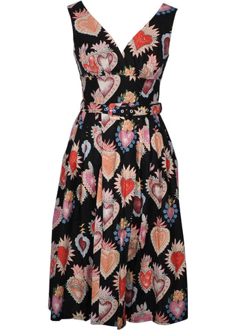 Victory Parade Retro Frock Corazone 50's Dress Black