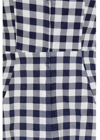 Collectif Monia Gingham 50's Swing Dress Navy