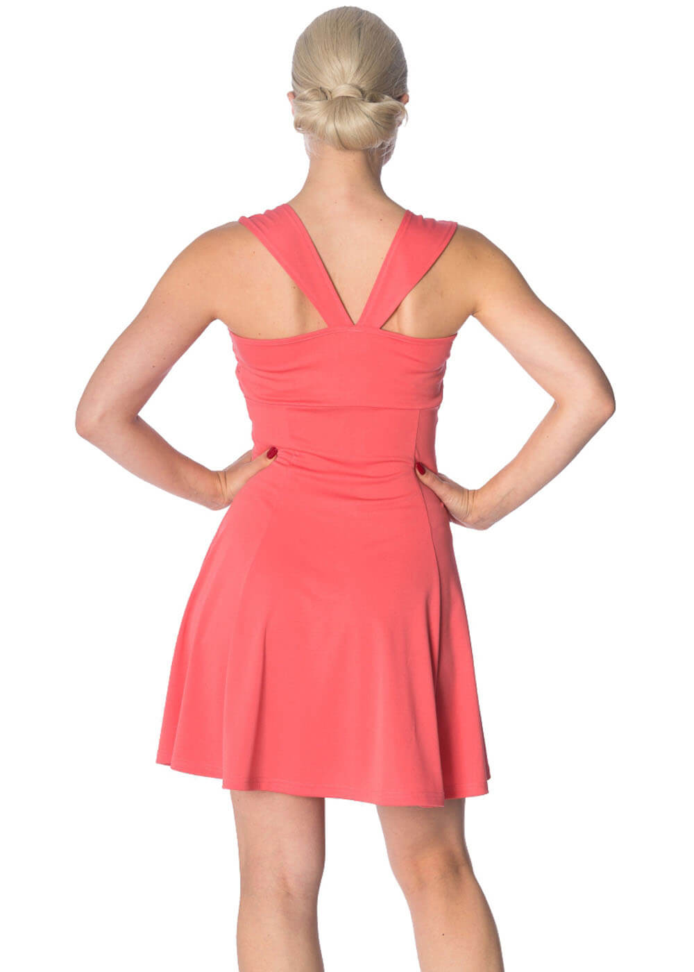 Banned It's The Twist Strappy 60's Dress Hibiscus
