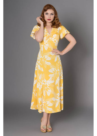 Sheen Harper 40's A-line Dress Yellow